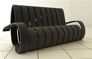 интересная мебль - спиральный диван