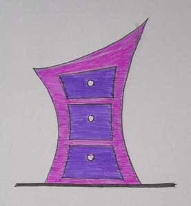 эскиз мебель из картона