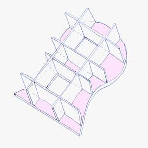 схема постройки каркаса мебели из картона