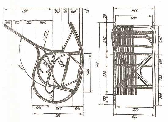 Рис. 73 Кресло-качалка