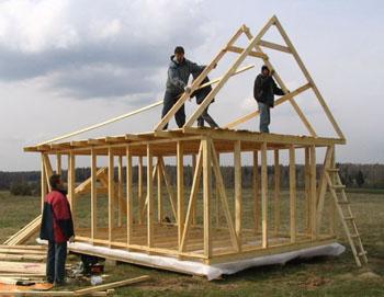 Каркасное строительство дома своими руками фото