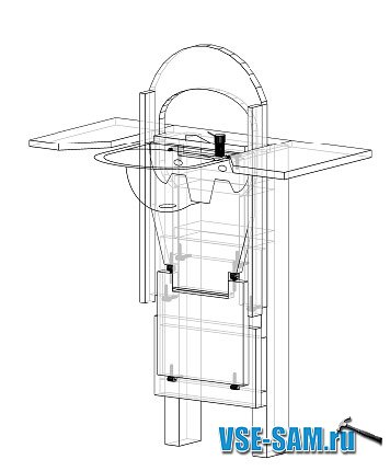 самодельная раковина - туалет