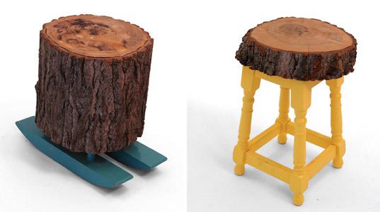 поделки из чурок, дров