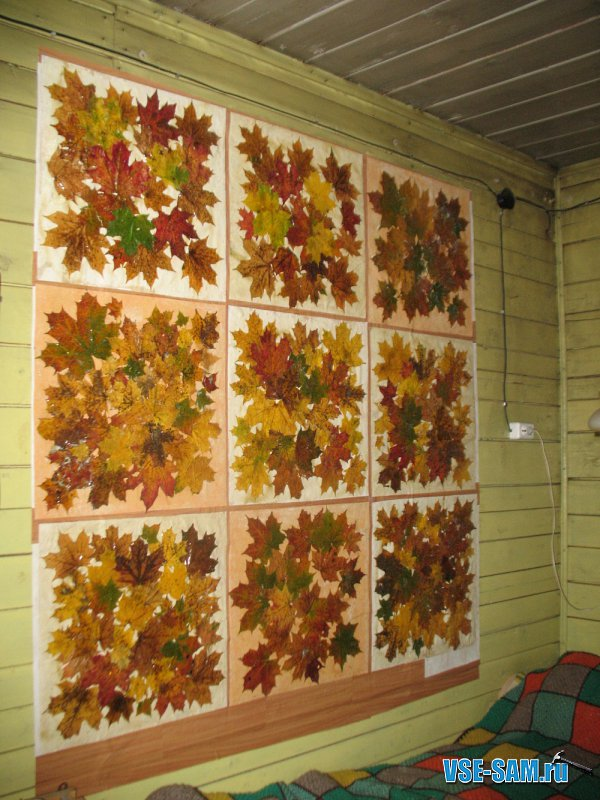 Поделки для интерьера из осенних листьев