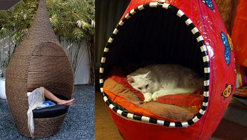 Домик для кошки из папье маше своими руками