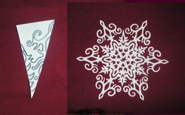 Снежинки своими руками фото схема