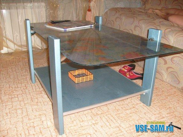 Как своими руками сделать стеклянный стол 151