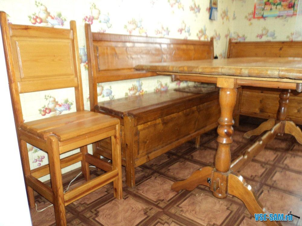 Кухонные уголки из дерева (42 фото натуральная) 81