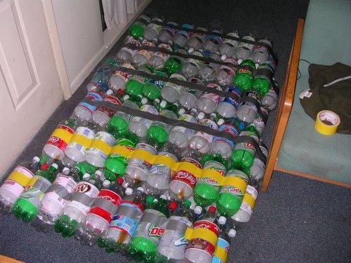 Как сделать плот из пластиковых бутылок своими руками фото
