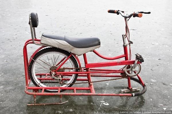 Велосипед снегоход своими руками