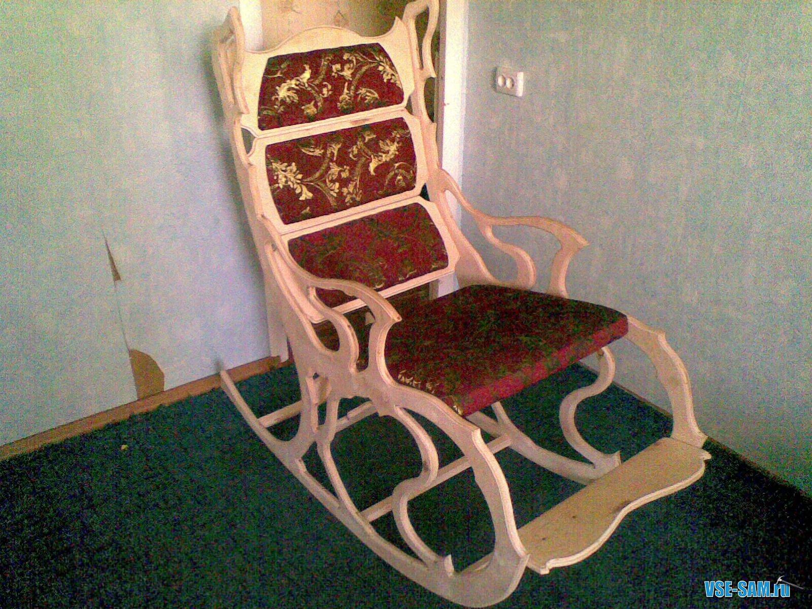 Кресло качалки из фанеры своими руками