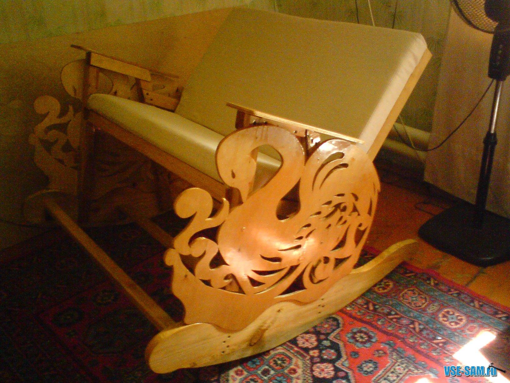 Чертёж кресла качалки из фанеры своими руками чертежи