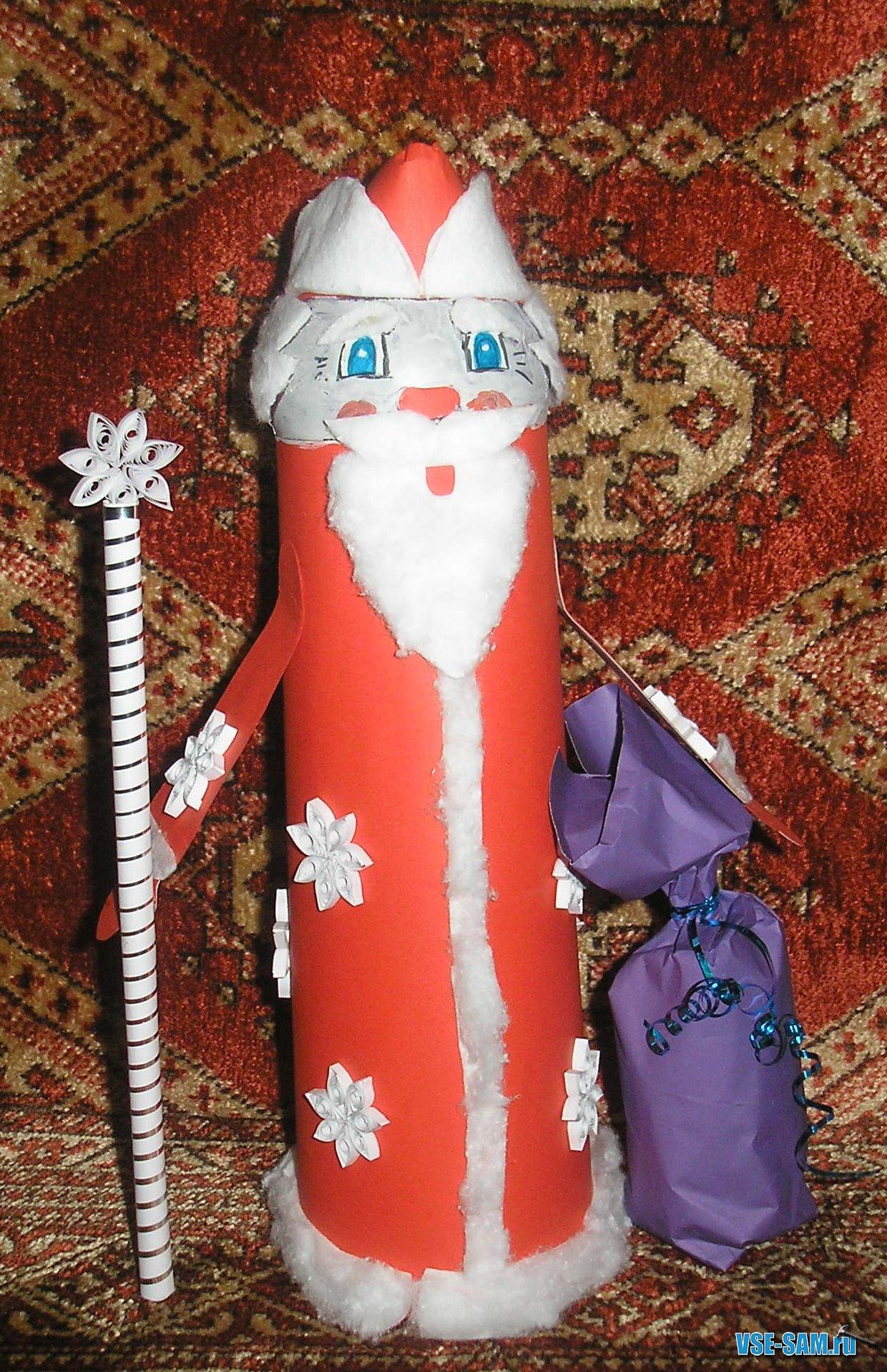 Дед мороз из картона своими руками схемы