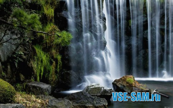 Фонтан с водопадом своими руками