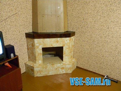 Угловой декоративный камин своими руками из гипсокартона - НО ЕФППИ