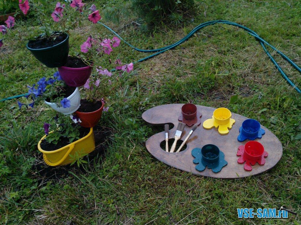 Поделки из бросового материала для дачи сада огорода своими руками 79