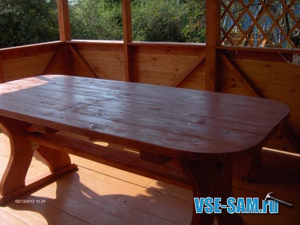 Мебель для беседки: Стол